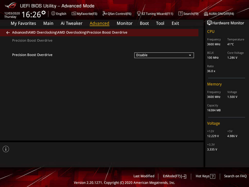 PBO 2.0 & Fmax Enhancer settings for manual overclock menu 2